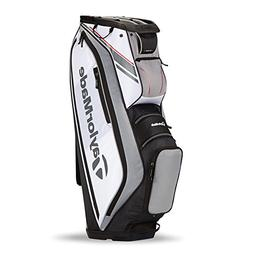 TaylorMade TM15 San Clemente Golf Cart Bag, White/Black/Gray