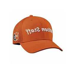 New Wilson Staff Tour Mesh Golf Hat Structured Orange Adjust