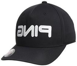 PING Tour Structured Golf Hat Black/White Flex-Fit L/XL Cap