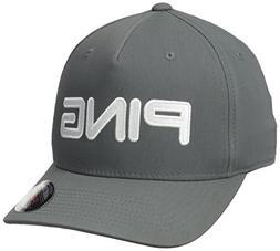 Ping Men's Tour Structured Men's Hat, Dark Grey/White, Large