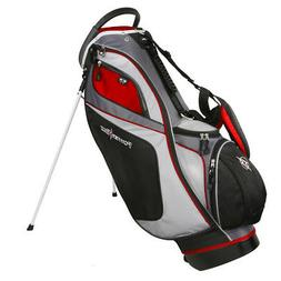 Powerbilt TPS Dunes 14-Way Black/Red Stand Golf Bag - NEW!