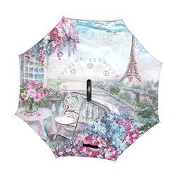 ALAZA U LIFE Vintage Paris Eiffel Tower City Oil Painting Fl