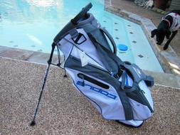COBRA Ultralight Carry/Stand Golf Bag WHITE/GRAY/BLUE NEW!