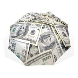 HangWang Umbrella Money Dollar Travel Golf Sun Rain Windproo