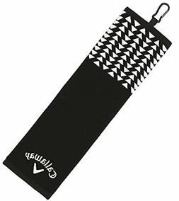 CALLAWAY WOMENS UPTOWN TRI-FOLD TOWEL BLACK/POLKA DOT- NEW 2
