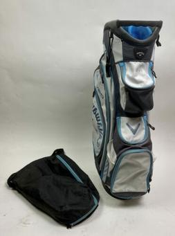 Used Callaway CHEV ORG 14 Golf Cart Carry Bag - White/Gray/B