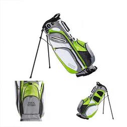 IZZO Versa Stand Golf Bag - Grey/Lime/White - Golf Hybrid St