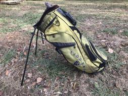 Vintage Nike Golf Stand Bag Green 7 Way Divider w Straps and