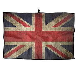 HFXFM Vintage UK Flag.jpg Grid Microfiber Cooling Golf Towel