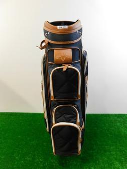 Callaway Women's Classic 6-Way Cart Bag Black/Tan w/4 knit h
