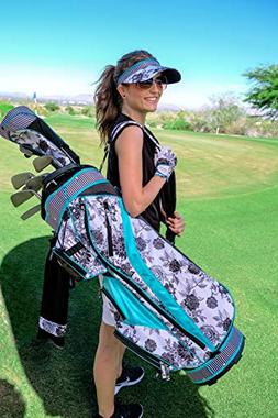 GloveIt Women's Golf Bag - Ladies 14 Way Golf Carry Bag - Go