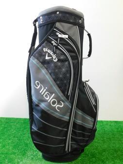 Callaway Womens Solaire Golf Cart Bag Black 6-Way New W Rain