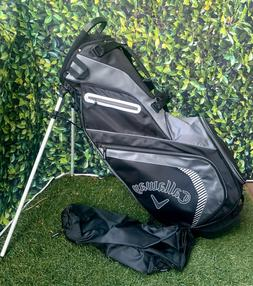 Callaway X-Carry 5 Way Stand Bag, Black/Grey, With Rain Cove