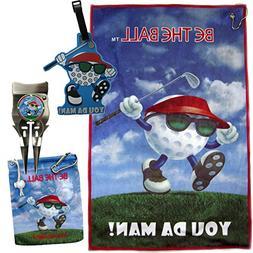 You Da Man Golf Towel, Tee Bag, Ball Marker, Divot Tool with